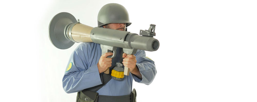 Team Fortress 2 Soldier & Rocket Launcher
