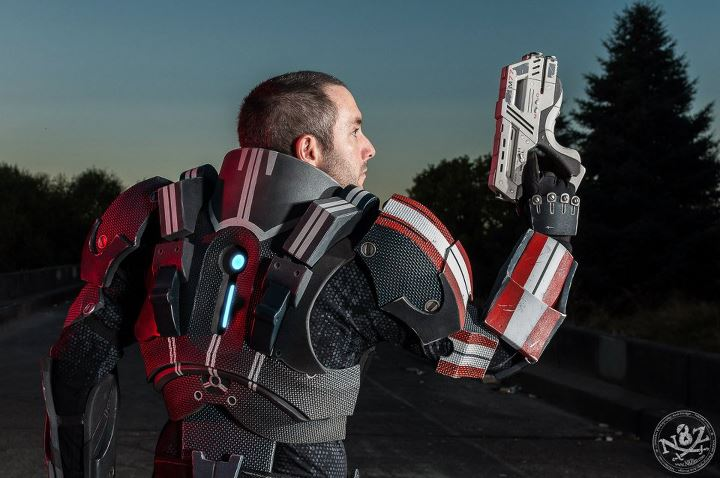 Mass effect n7 defender foam armor punished props for Mass effect 3 n7 armor template