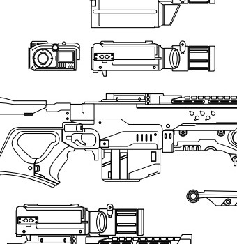 Halo 4 - Sniper Rifle - Blueprint - Featured