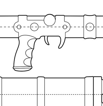 Nausica Sword Rifle Blueprint Featured