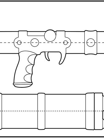 Nausica Sword Rifle Blueprint Featured