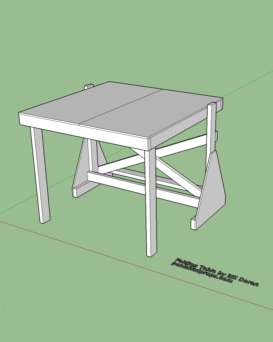 Sketchup plans free images for Table design sketchup