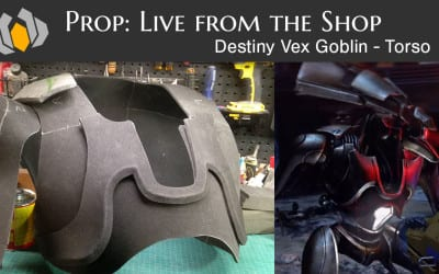 Prop: Live from the Shop – Destiny Vex Goblin – Torso