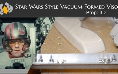 Prop: 3D – Season 1, Episode 4 – Star Wars Style Vacuum Formed Visor
