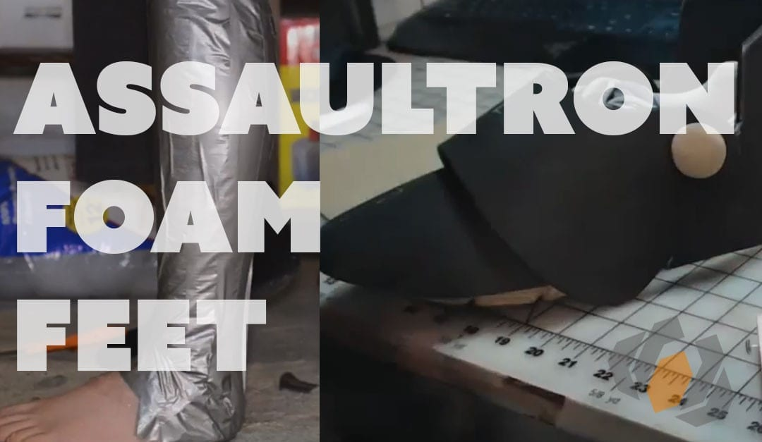Prop: Live – Fallout 4 Assaultron Costume – References, Leg Form and Feet