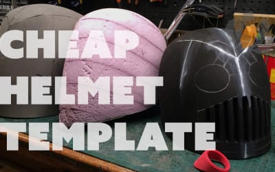 Prop: Live from the Shop – Making a Cheap Helmet Template