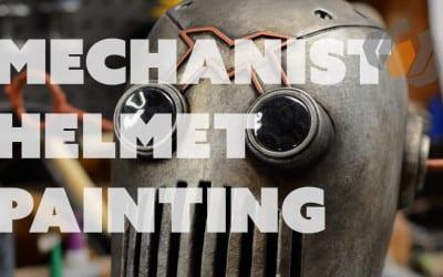 Prop: Shop – Painting the Mechanist Helmet – Foam & Rubber Cement Paint