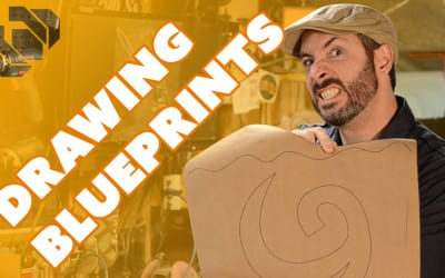 Drawing the Deku Shield Blueprints in Inkscape – Prop: Shop