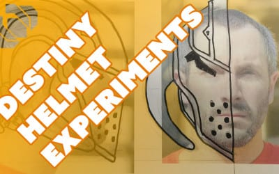 Experimenting with Destiny Cosplay Helmet Designs – Prop: Live from the Shop