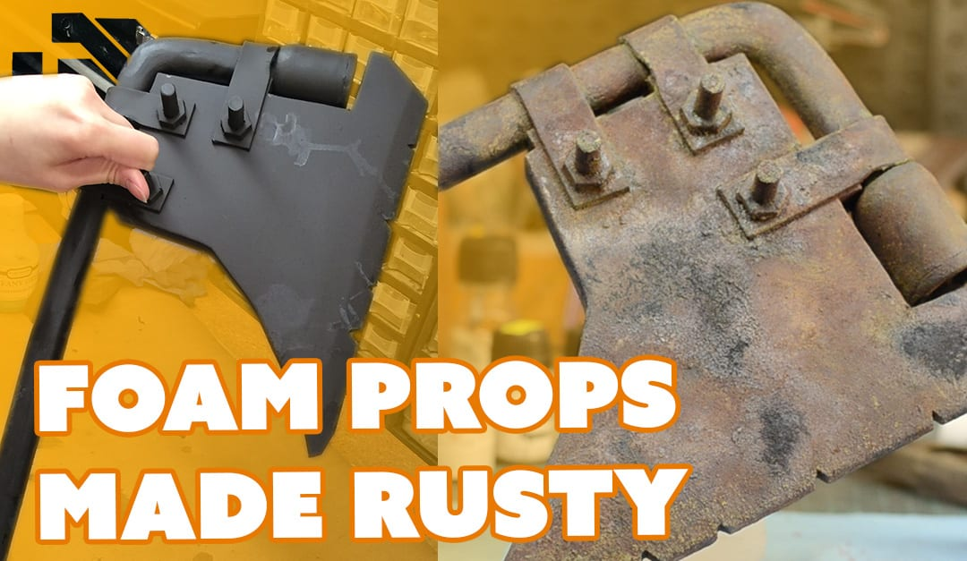 How To Paint Foam Props To Look Like Real Rust