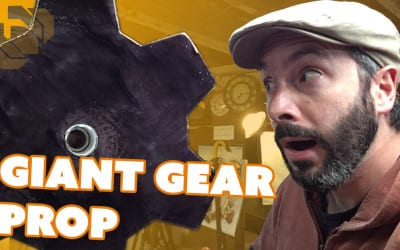 Making a Large Prop Gear from Insulation Foam – Prop: Live from the Shop