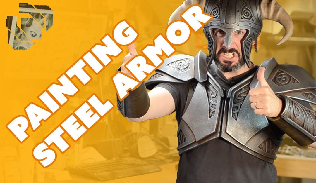 How to Make the Skyrim Steel Armor Costume Part 2: Painting a Faux Steel Finish