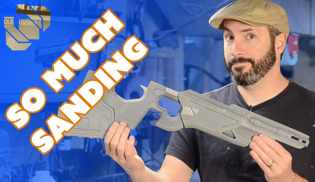 How to 3D Print a Gun Prop from Destiny Part 5: Sanding and Assembly