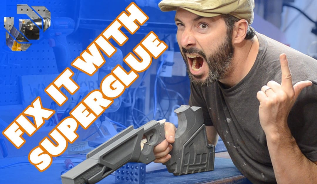 How to 3D Print a Gun Prop from Destiny Part 4: Fixing Parts with Super Glue