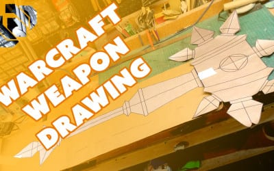 Drawing World of Warcraft Prop Weapon Blueprints – Prop: Live from the Shop
