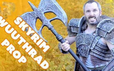 How to Make Wuuthrad the Legendary axe from Skyrim Special Edition – Prop: Shop