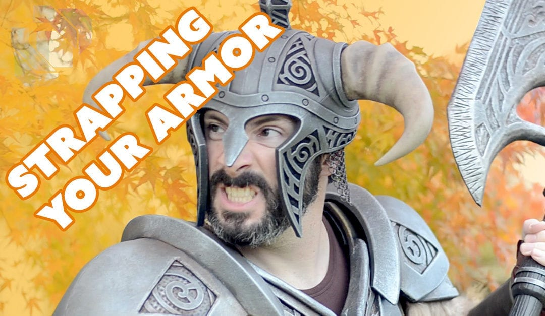 How to Make the Skyrim Steel Armor Costume Part 3: Straps and Fur