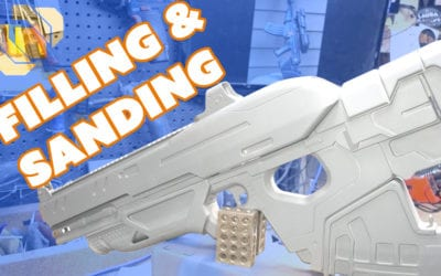 How to 3D Print a Gun Prop from Destiny Part 8: Filling and Sanding