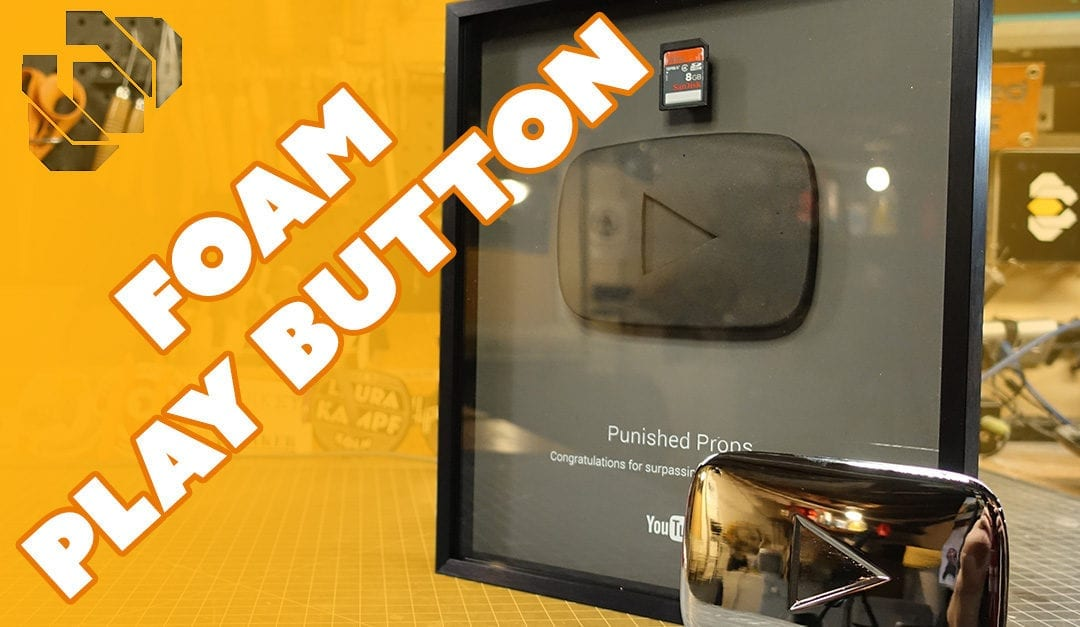 Foam Play Button for 100,000 Subscribers