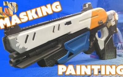How to 3D Print a Gun Prop from Destiny Part 9: Masking & Painting – Prop: 3D