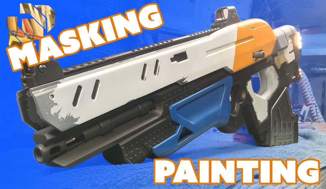 How To 3d Print A Gun Prop From Destiny Part 9 Masking