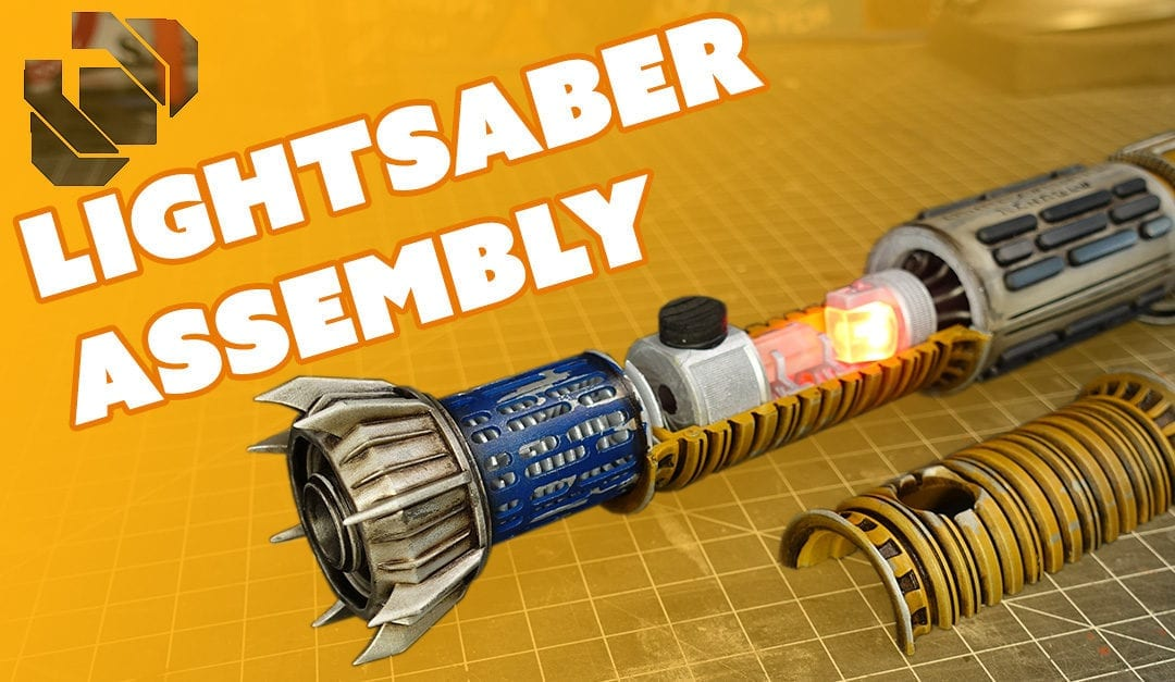 Assembling and Weathering a 3D Printed Lightsaber – Prop: Live from the Shop