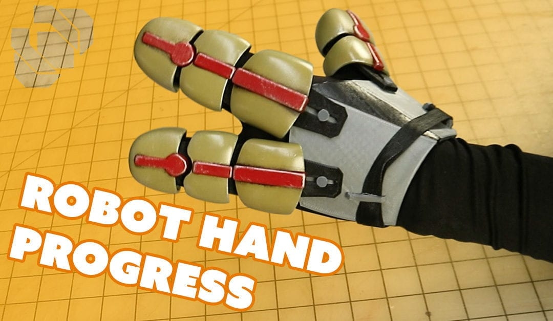 Adding a Robot Shell to My 3D Printed Glove Skeleton