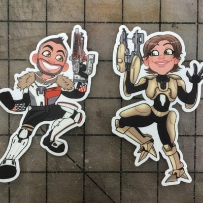 Bill and Britt Destiny Sticker Pack