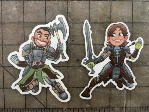 Bill and Britt Skyrim Sticker Pack