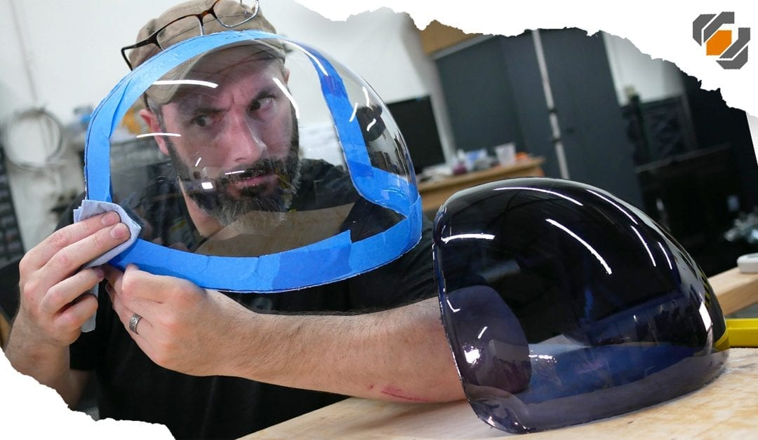 ACES Astronaut Helmet Visor for Adam Savage – Vacuum Forming Tutorial